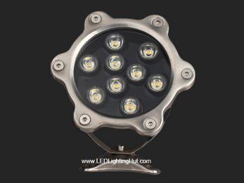 9W LED Underwater Pool Light, W/R/G/B/RGB Optional