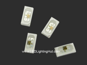 Addressable SK6812 Side Emitting 4020 RGB LED, 100 Pack