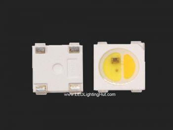 Addressable SK6812 WWA LED, 1800K to 6500K White Adjustable, 100 Pack