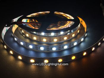 Addressable SK6812 WWA White Adjustable 5050 LED Strip, 60/M, 5V DC