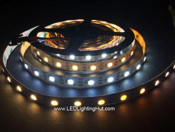 Addressable SK6812 WWA White Adjustable 5050 LED Strip, 60/M, 5V DC