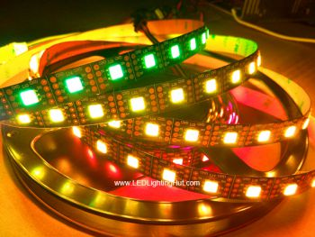 APA102 Digital Addressable RGB LED Strip, 60 LEDs/M, 5V DC