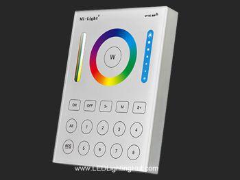Mi-Light B8 5-in-1 Wireless 8-Zone In-Wall Touch Panel