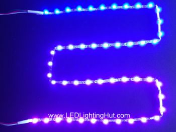 Bendable Zigzag SK6812 RGB Digital Addressable LED Strip, 48/m, 5VDC