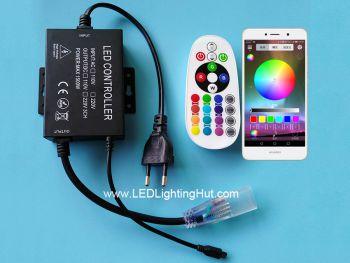 Bluetooth Music Controller for 110V/220V AC  RGB  LED Strip