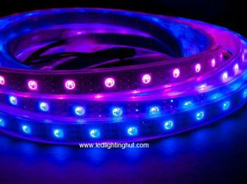 WS2811IC Digital RGB LED Strips, Chip-built-in, 60 LED/meter, IP67 Waterproof