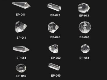 Crystal  End Fixtures for Fiber Optic Chandelier, 50 Pack