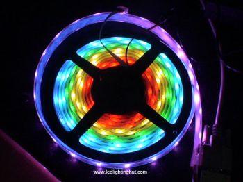 Digital Addressable HL1606 IC RGB LED Light Strip, 5m/reel, 5V, 10W/M, IP65 Waterproof