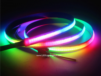 Digital SK6812 RGB COB LED Strip,  No Visible LEDs, 5V, 1m Reel