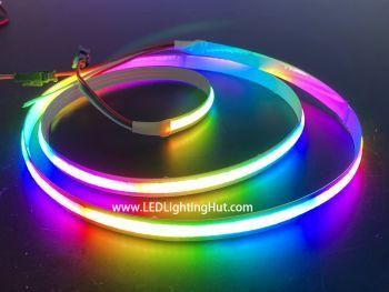 Digital SK6812 RGB COB LED Strip,  No Visible LEDs, 5V, 1m Reel