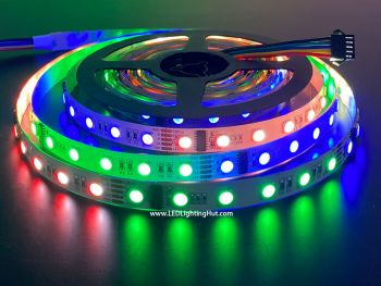 DMX 512 4-in-1 Digital RGBW LED Strip, 60 LED/m, 5m, 24VDC