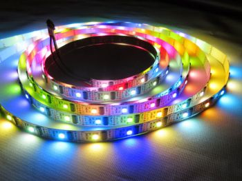 DMX Programmable RGB LED Strip, 32 Pixel/m, 5V DC