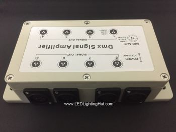 DMX Signal Amplifier (1 in : 8 out),  12V-24V DC
