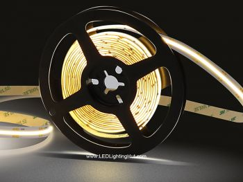 Dot-free Super Flexible COB LED strip, CRI+90, 5m, 24V DC