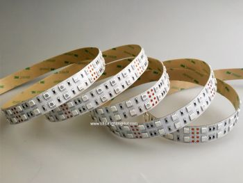 Double Row Color Changing RGB 5050 LED Strip, 120/m, 12/24V, 5m Reel