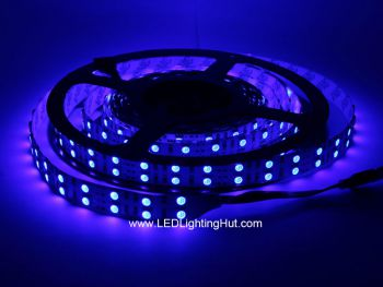 Double Row Color Changing RGB 5050 LED Strip Light, 120 LED/m, 12/24VDC, 5m Reel