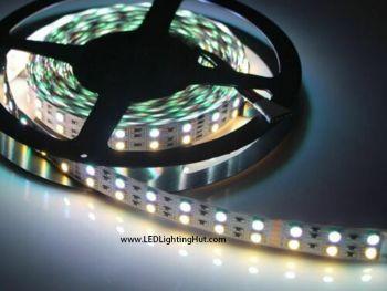 Double Row RGB+Warm White 5050 LED Strip, 120/m, 24V, 5m Reel