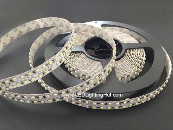 Dual Row 3528 SMD Flex LED Strip, 240 LED/m, 12V DC, 5m Reel, R/G/B/Y/W Optional