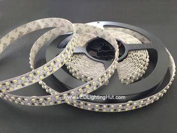 Dual Row 3528 SMD Flex LED Strip, 240 LED/m, 12V DC, 5m Reel, R/G/B/Y/W Optional