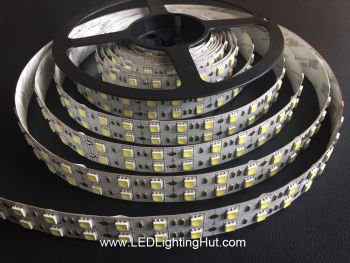 Dual Row 5050 SMD Flex LED Strip, 126 LED/m, 12V DC, 5m Reel, R/G/B/Y/W Optional