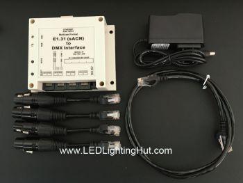 E1.31 (sACN) to DMX Interface/Bridge, 4 DMX512 Universes Output