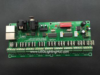 27Ch 9 Group Easy DMX512 LED Controller, 1A/CH, DC 7V- 24V