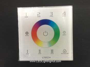 EX8S RGB(W) 4 Zones Wall Mounted Touch Panel, DMX512/RF Control