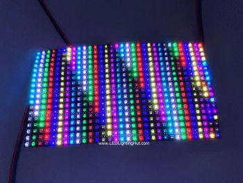 Flexible 18x32 WS2812C 2020 RGB LED Matrix, 90mm*160mm, 5V DC