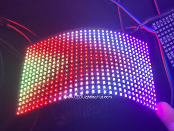 Flexible 18x32 WS2812C 2020 RGB LED Matrix, 90mm*160mm, 5V DC