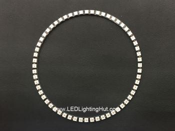 Four 1/4 60 WS2812 5050 Digital RGB LED Ring