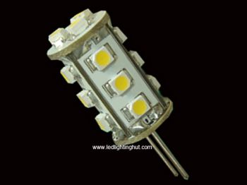 G4  Tower Lamp with 15 pcs 3528 SMD LEDs, Back-Pin