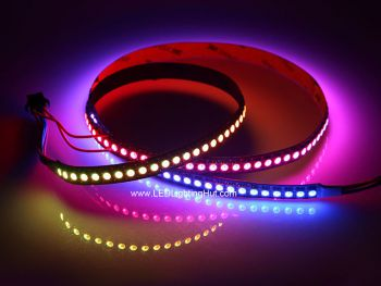 GS8208 12V Digital RGB LED Strip, Dual Data Signals, 144/m, 60/m, 30/m Available