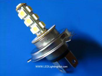 H4 13 SMD5050 (3 Chip) LED Fog Light, White, 12V (2 pack)