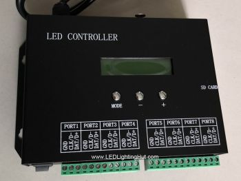 H803SA Standalone Pixel Lighting Controller, 8 Ports, 8192 Pixels, DMX Capable