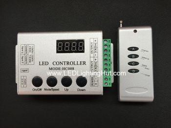 HC008 RF Digital LED Strip Controller, Support WS2801, TM1809, TM1812, WS2812B/SK6812  Driving IC