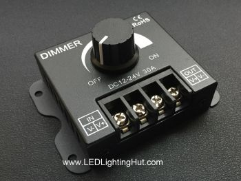 Heavy Duty PWM LED Knob Dimmer, 30A, 12-24VDC
