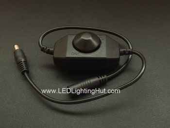 Knob Inline PWM Dimmer for Single Color LED Strip, 12~24V DC, 2 Amps