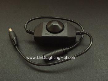 Knob Inline PWM Dimmer for Single Color LED Strip, 12~24V DC, 2 Amps