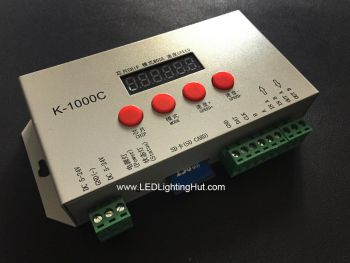 K-1000C SD Card SPI Controller for Digital RGB/RGBW LED Strips, 5V-24V Input