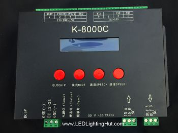 K-8000C 8 Ports SD Card LED Pixel Controller for SPI/DMX RGB/RGBW Strips