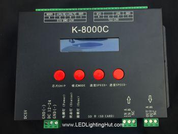 K-8000C 8 Ports SD Card LED Pixel Controller for SPI/DMX RGB/RGBW Strips