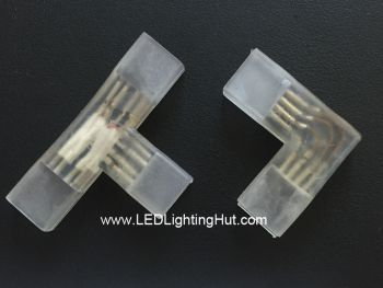 L/T Shape Connector for 120V/220V 5050 RGB LED Strip Light