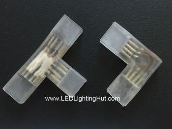 L/T Shape Connector for 120V/220V 5050 RGB LED Strip Light
