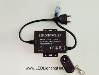 LED Dimmer for High Voltage LED Strip with RF Remote