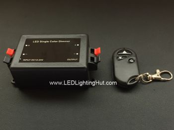 LED Dimmer with RF Remote, 12~24 Volt DC, 8 Amps