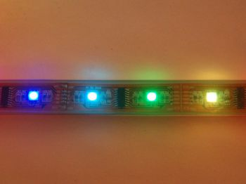 Digital LPD8806 RGB LED Flexible Light Strip, 5m, DC5V, IP67 Waterproof