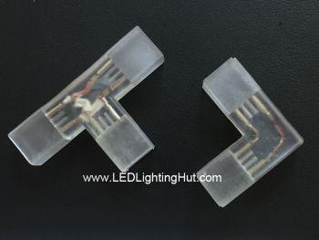 L/T Shape Connector for 120V/220V 5050 Single Color LED Strip Light