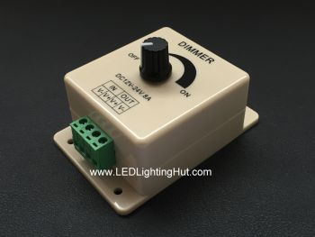 PWM LED Dimmer with Rotary Knob, 12~24 Volt DC, 8 Amps