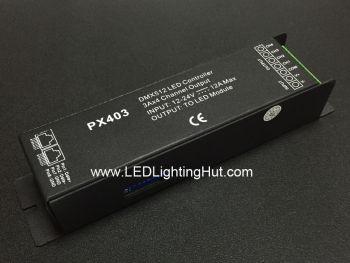 PX403 4 Channel LED DMX Decoder, 3A/CH, 12-24VDC