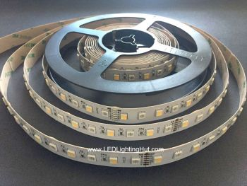 RGB+CCT Tunable White 2700K-6500K LED Strip, 72/m, 24V, 5m Reel